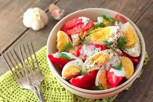 Tomatoes and eggs salad photo