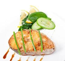 Fish dish - fried fillet photo