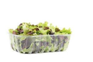 Fresh mixed salad leaves.