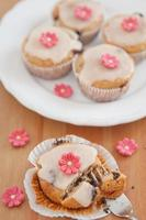 Spring Muffins with marzipan flowers