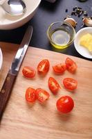 ingredient for tomatoes soup photo