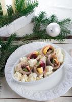 herring with beets photo