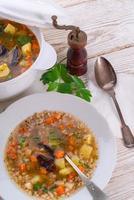 "Krupnik -€"" Polish Pearl Barley Soup"