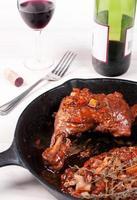 coq au vin chicken dish with wine