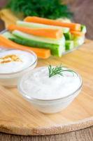 Tzatziki yogurt dip (sauce)
