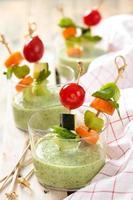 Green cream soup. photo