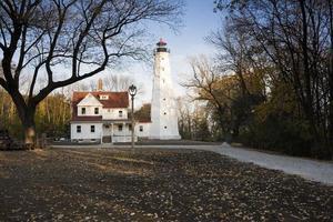 Lighthouse in Milwaukee photo