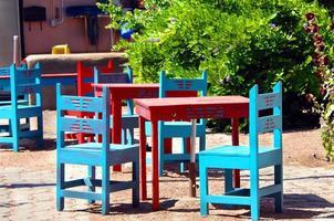 mesas al aire libre de albuquerque foto