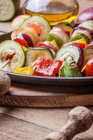 Vegetable skewers.
