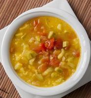 Mediterranean dish of zucchini and tomato soup