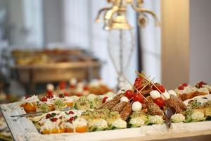 Delicious buffet food