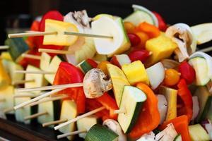 Vegetable kebabs photo