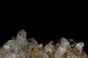 rock crystal and black background