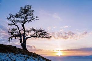 rots bij het Baikalmeer