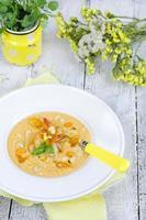 Yellow gazpacho soup photo