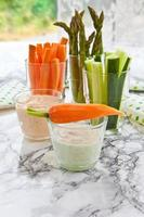 Fresh vegetable sticks photo