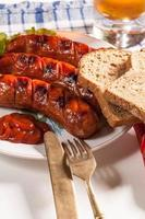 Grilled sausage.