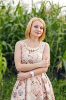Girl at corn