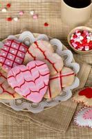 galletas del día de san valentín foto