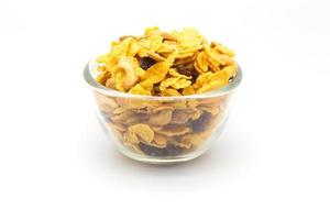 Bowl of homemade honey caramel cornflakes