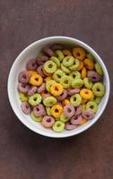 Multicolored corn flakes (rings) photo
