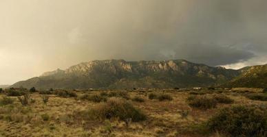 Golden Sandia Mountains photo