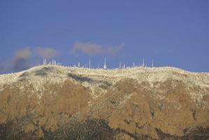 communications mountain landscape winter photo