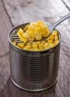Canned Corn with Fork photo