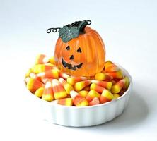Halloween candy corn .