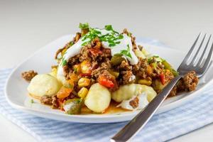 Minced meat with peppers