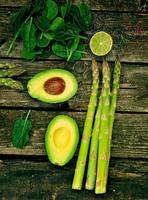 avocado and asparagus photo
