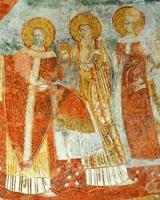 Frescos of saints
