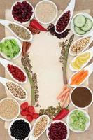 dieta comida resumen frontera foto