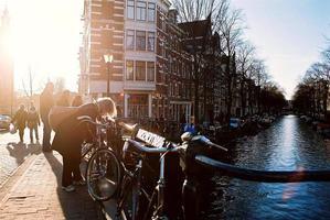 amstel río amsterdam foto