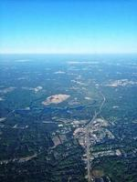 vista aérea de la montaña de piedra y atlanta foto