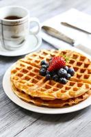 Waffles with Blueberry
