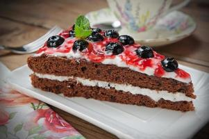 homemade blueberry cake photo