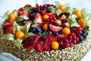 pastel de frutas foto