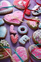 S t. Tortas de San Valentín - imagen de stock foto