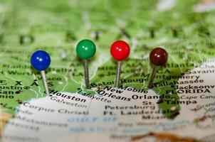 costas del golfo ciudades alfileres othe mapa foto
