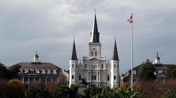 Jacksons Square St. Louis Cathedral,in New Orleans