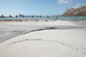 praia de balos em Creta. paisagem mediterrânea. Grécia