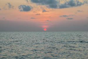 sunset at sea, Koh Phangan,Surat Thani, thailand photo