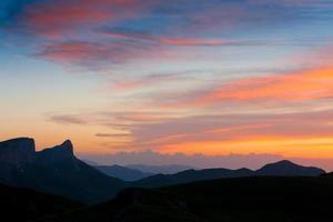 Mountain sunset summer