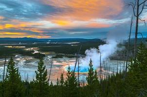 Grand Prismatic Geyser from above photo