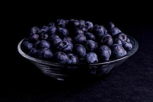 Blueberry in a glass bowl