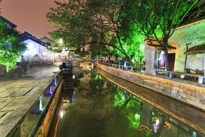China suzhou canal street anochecer foto