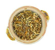 St. Johns Wort shredded herb in bowl photo