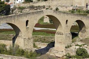 Old bridge in Manresa photo