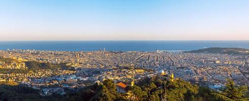 Panorama of Barcelona photo